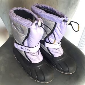 Sorel Flurry Boot Lilac & Grey Youth Size 5 Girls